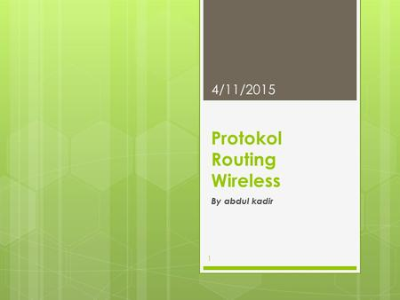 Protokol Routing Wireless