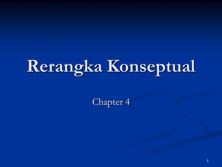 Rerangka Konseptual Chapter 4.