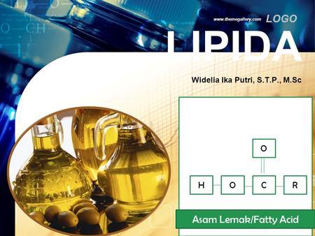 Pengertian dan Ciri Lipid