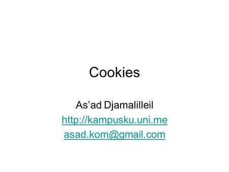 Cookies As'ad Djamalilleil