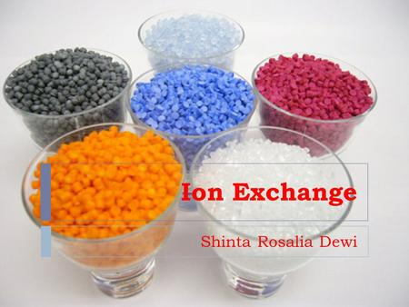 Ion Exchange Shinta Rosalia Dewi. RESIN PARTICLE AND BEADS.