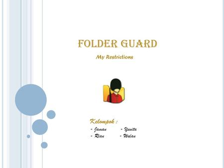 FOLDER GUARD My Restrictions Kelompok : - Jaman - Yunita - Rian - Wulan.
