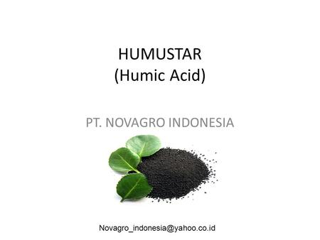 HUMUSTAR (Humic Acid) PT. NOVAGRO INDONESIA