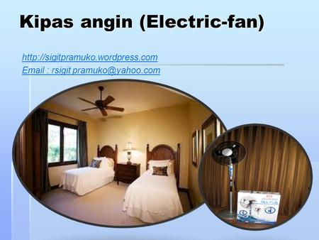 Kipas angin (Electric-fan)    rsigit