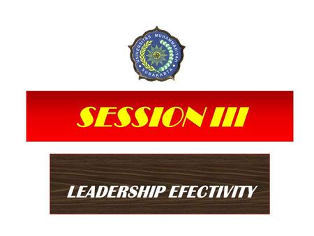 LEADERSHIP EFECTIVITY