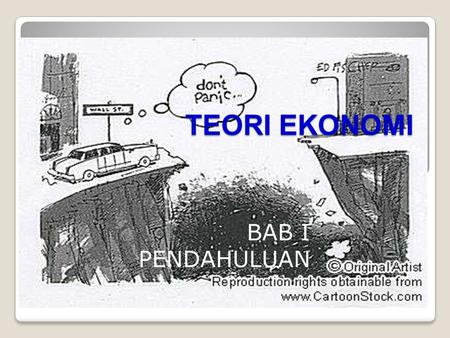 TEORI EKONOMI BAB I PENDAHULUAN mics cartoon 5 - catalog reference efin441.