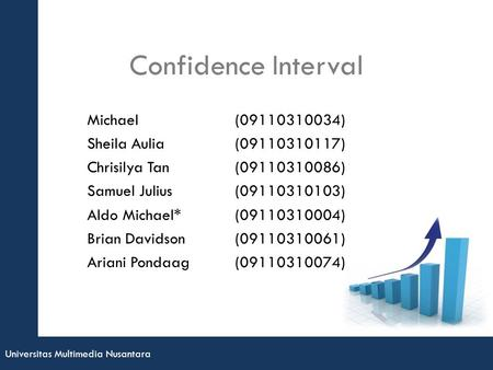 Confidence Interval Michael ( ) Sheila Aulia ( )