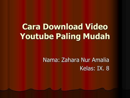 Cara Download Video Youtube Paling Mudah