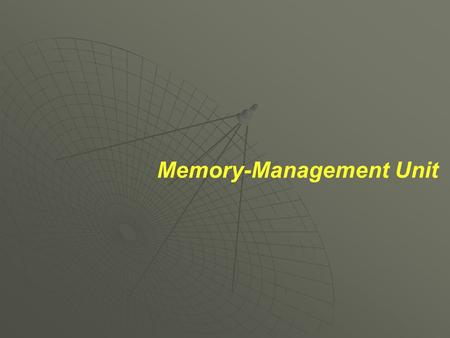Memory-Management Unit