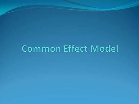 Common Effect Model.