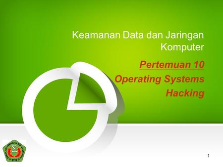 1 Keamanan Data dan Jaringan Komputer Pertemuan 10 Operating Systems Hacking.