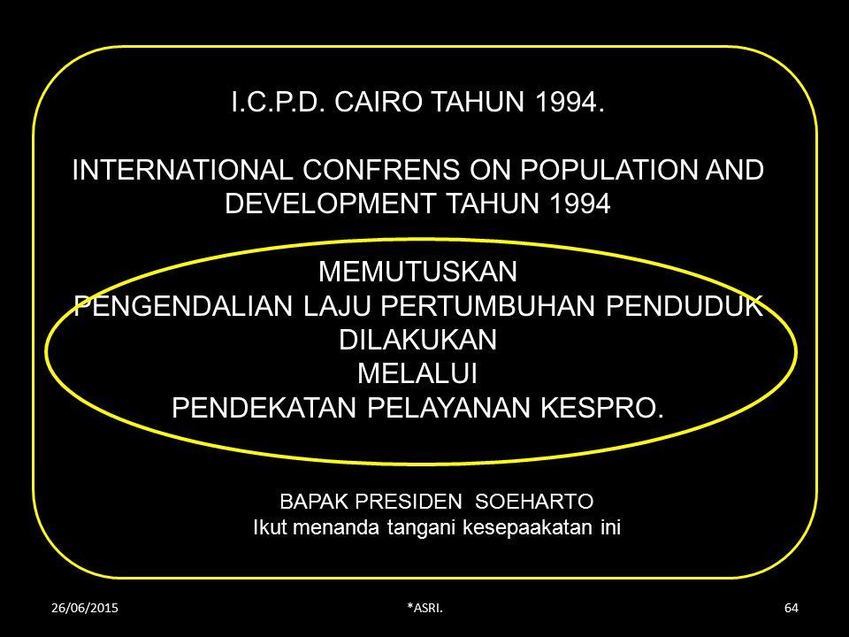 I.C.P.D.CAIRO TAHUN 1994.