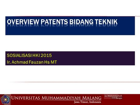 Overview patents bidang teknik