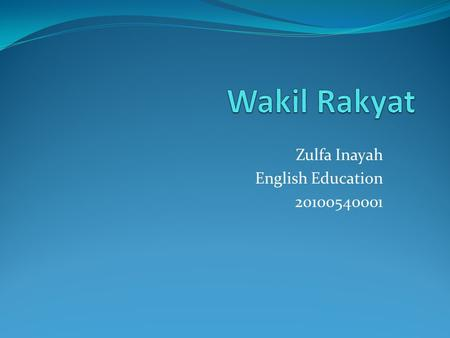Zulfa Inayah English Education