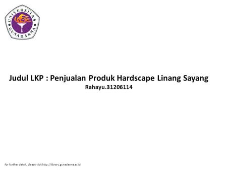 Judul LKP : Penjualan Produk Hardscape Linang Sayang Rahayu.31206114 for further detail, please visit