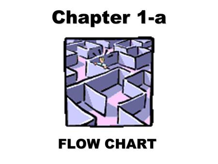 "Chapter 1-a FLOW CHART. BACKGROUND Program: composed by 1 programmer composed by 1 team of programmers Required planning & design using: FlowChart: ""Symbols."