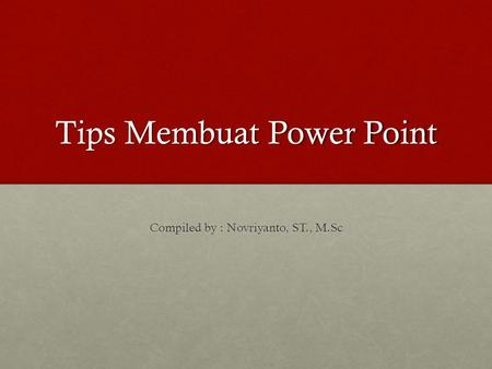 Tips Membuat Power Point