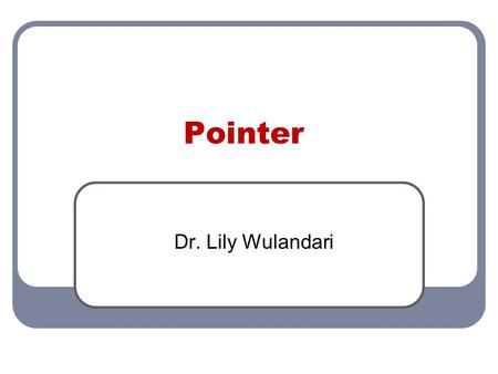 Pointer Dr. Lily Wulandari.