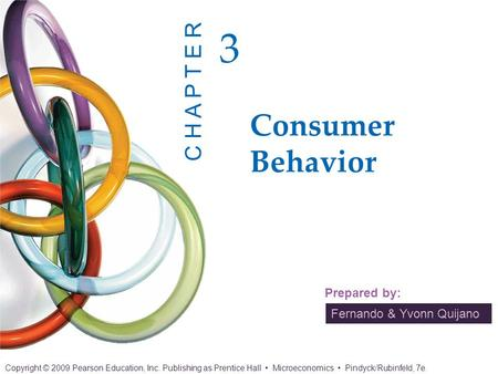 3.1 CONSUMER PREFERENCES Market Baskets