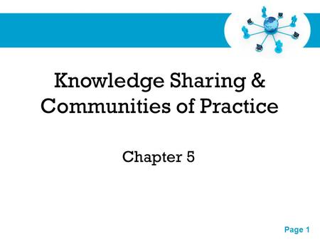 Knowledge Sharing & Communities of Practice