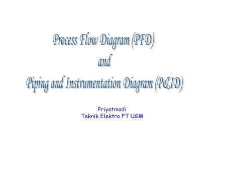 Priyatmadi Teknik Elektro FT UGM. priyatmadi2 What is a Process Flow Diagram?
