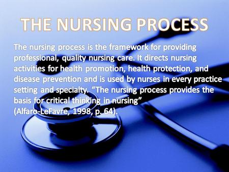 Comparison of Medical Diagnoses and Nursing Diagnoses Medical DiagnosisNursing Diagnosis Focuses on the illness, injury, or disease process. Focuses on.