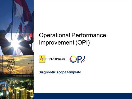 Operational Performance Improvement (OPI) Diagnostic scope template.