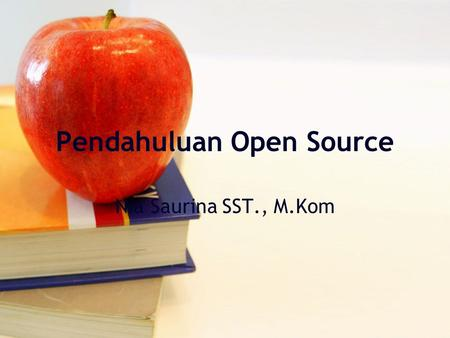 Pendahuluan Open Source
