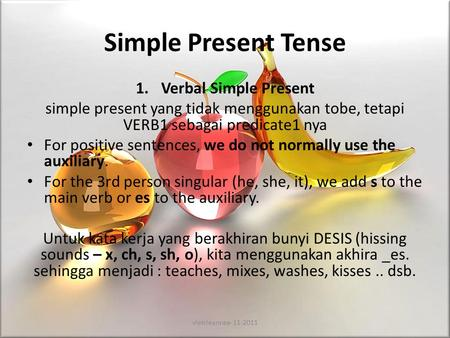 Simple Present Tense Verbal Simple Present