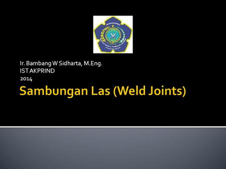 Sambungan Las (Weld Joints)