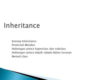 Inheritance Konsep Inheritance Protected Member