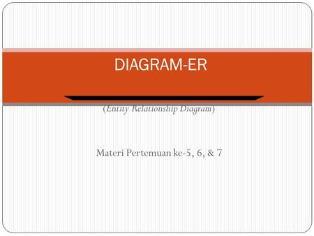 (Entity Relationship Diagram) Materi Pertemuan ke-5, 6, & 7 DIAGRAM-ER.
