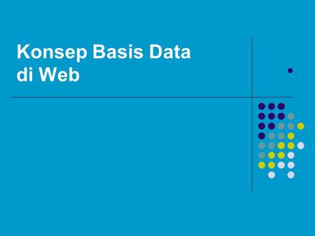 Konsep Basis Data di Web