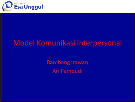 Model Komunikasi Interpersonal