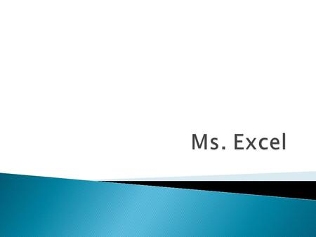 Ms. Excel.