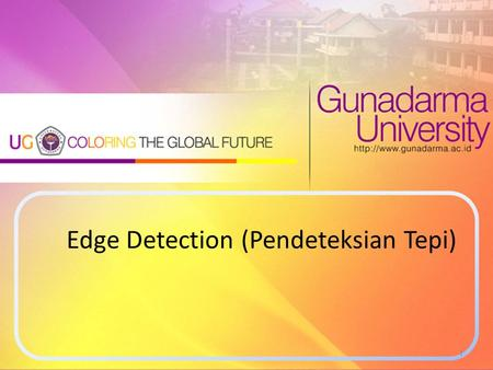 Edge Detection (Pendeteksian Tepi)