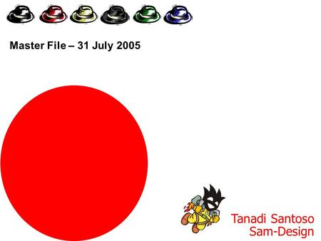 Six Thinking Hats Tanadi Santoso Sam-Design Master File – 31 July 2005.