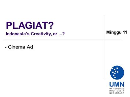PLAGIAT? Indonesia's Creativity, or ...?