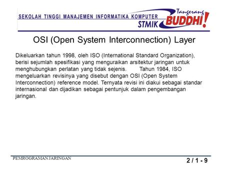 OSI (Open System Interconnection) Layer