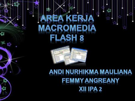 Area Kerja Macromedia Flash 8
