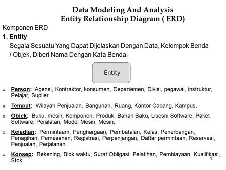 Data Modeling And Analysis Entity Relationship Diagram ( ERD)