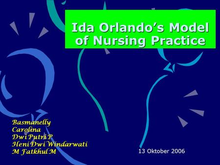 Ida Orlando's Model of Nursing Practice