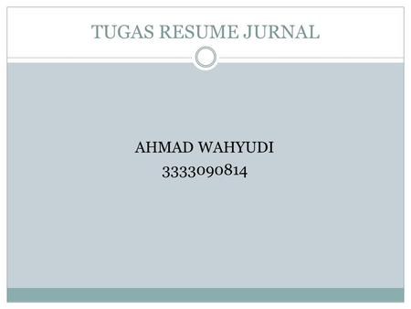 TUGAS RESUME JURNAL AHMAD WAHYUDI 3333090814. Lean Six Sigma – getting better all the time Ronald D. Snee Snee Associates, LLC, Newark, Delaware, USA.
