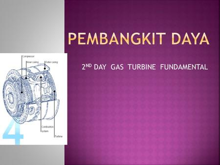2 ND DAY GAS TURBINE FUNDAMENTAL.  Gas turbine compressor (Centrifugal Compressor)  Gas turbine combustors  Axial-flow turbines.