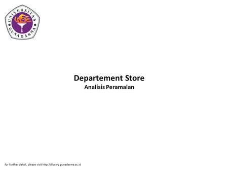 Departement Store Analisis Peramalan for further detail, please visit