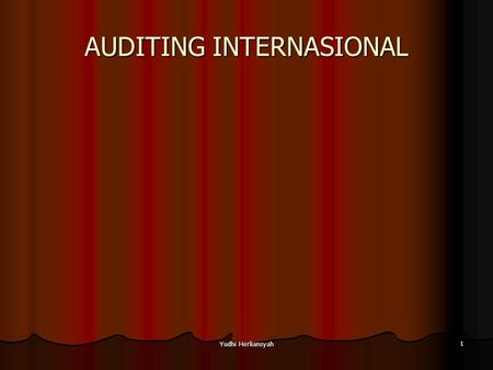 AUDITING INTERNASIONAL