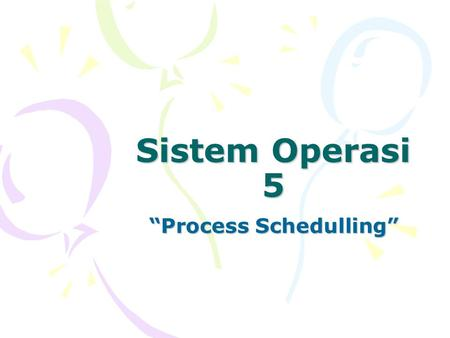 """Process Schedulling"""