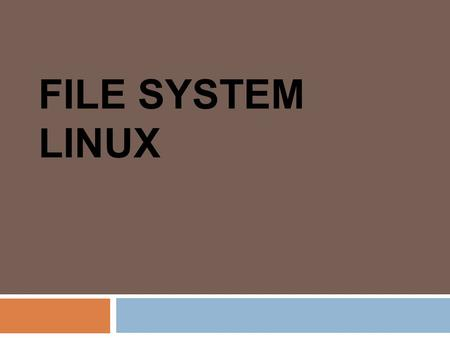 File System Linux.