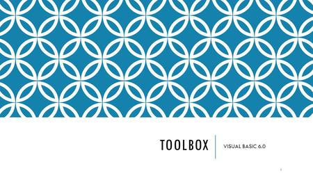 TOOLBOX VISUAL BASIC 6.0.