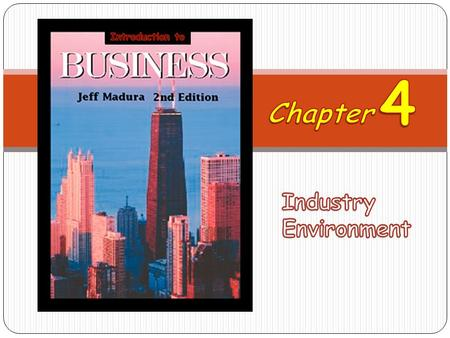 Introduction to 4 Chapter Industry Environment.